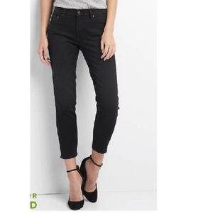 Gap Mid Rise Real Straight Jeans 32 Black v420